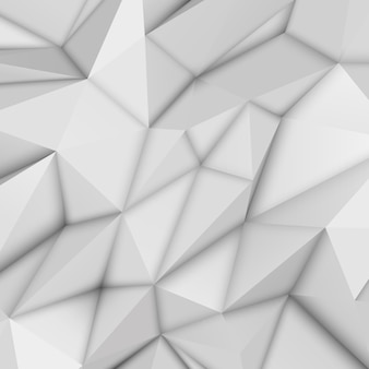 White abstract polygonal background