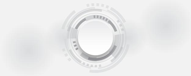 Белый абстрактный фон технологии, высокотехнологичный фон концепции