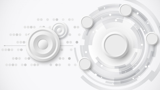 White abstract technology background.  illustration.