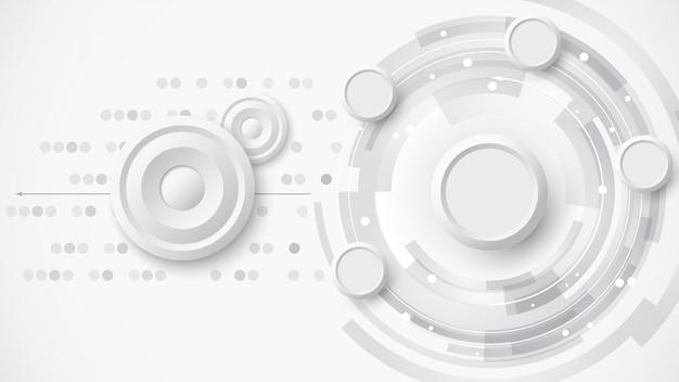 Белый абстрактный фон технологии. иллюстрации.