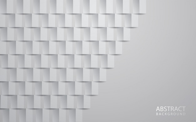 White abstract texture background 3d paper art style