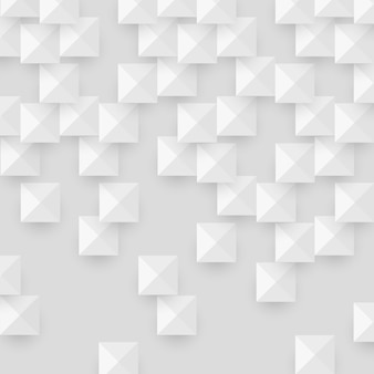 White abstract texture with geometric shape squares