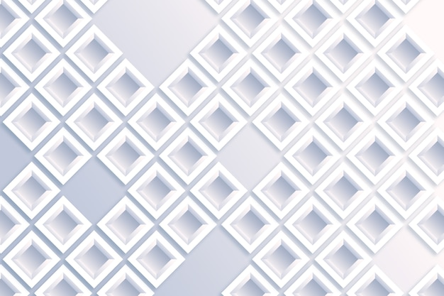 White abstract wallpaper in 3d paper style