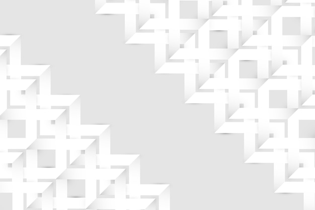 Stile astratto bianco della carta della carta da parati 3d