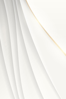White abstract wavy background vector