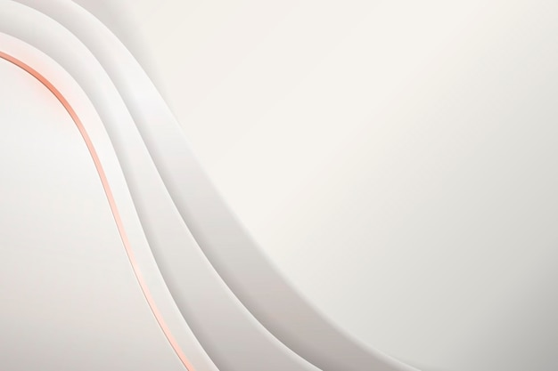 White abstract wavy background