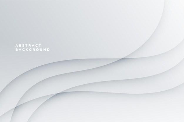 White abstract with wave lines design