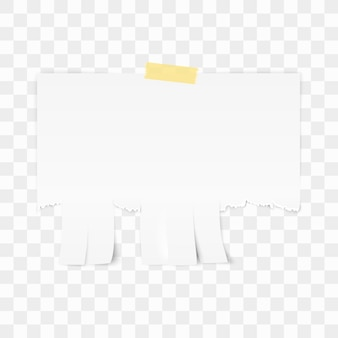 White advertisement paper on white background