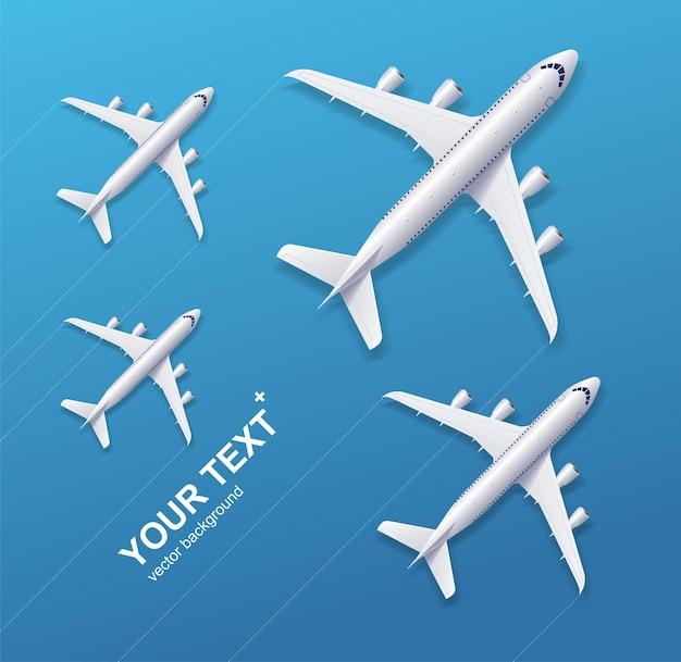 White airplane, concept travel