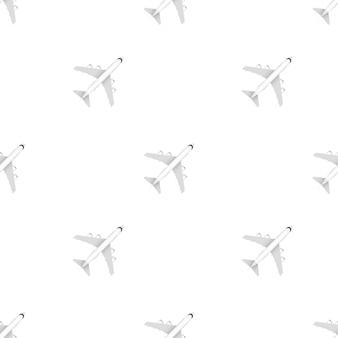 Белый образец самолета на белом фоне. векторная иллюстрация штока.