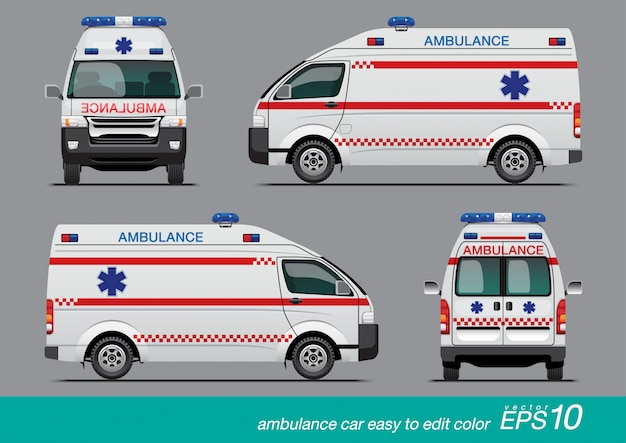 White ambulance van