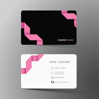 White and black business card design