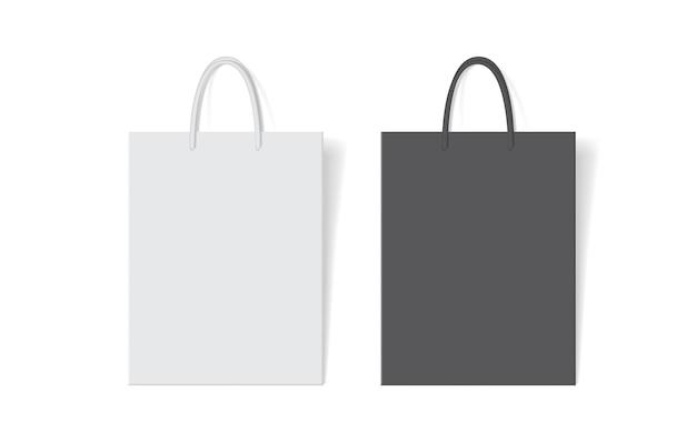 Белый и черный бумажный пакет
