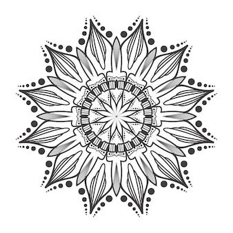 白と黒の丸いマンダラ