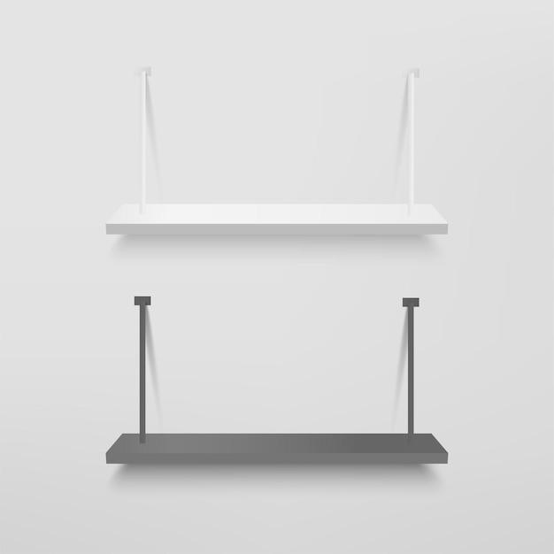 プレゼンテーション用の白と黒の棚