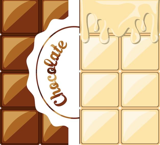 흰색과 어두운 초콜릿 바 아이콘