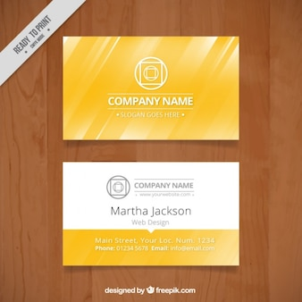 White and gold business card