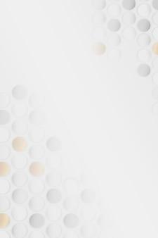 白と金のシームレスな丸いパターンの背景