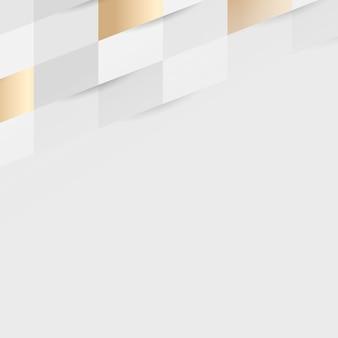 白と金のシームレスな織りパターンの背景