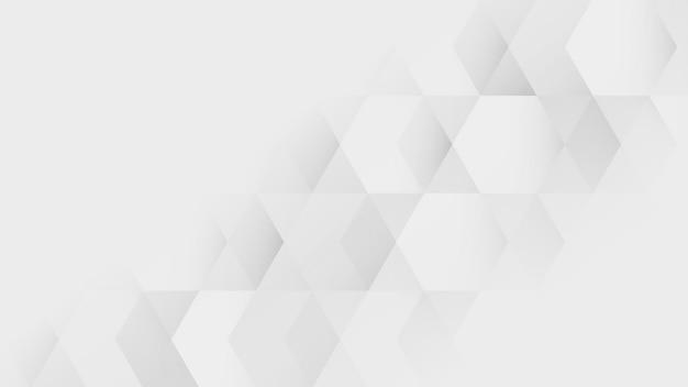 白と灰色の幾何学模様の背景ベクトル
