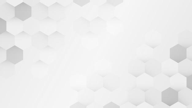 白とグレーの六角形パターンの背景