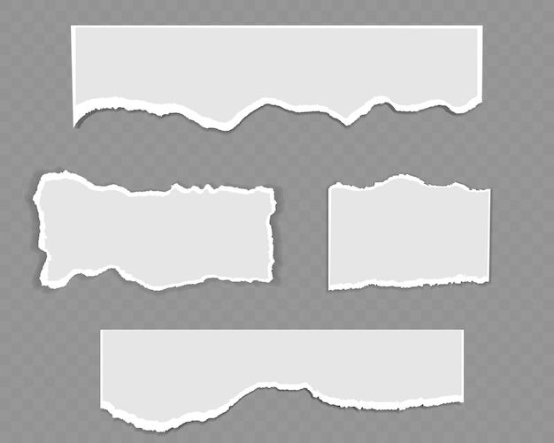 흰색과 회색 현실적인 가로 용지