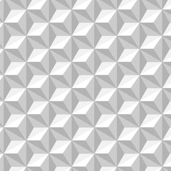 六角形の背景を持つ白と灰色のシームレスパターン 無料ベクター