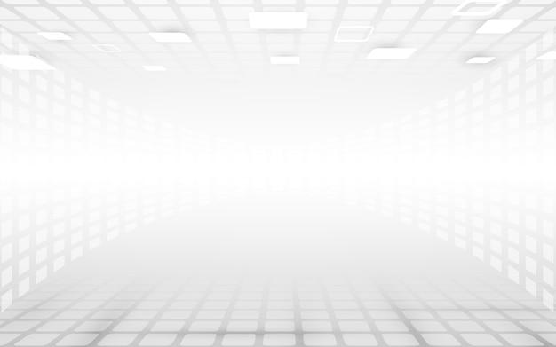 Белый и серый абстрактные прямоугольники перспективы фон