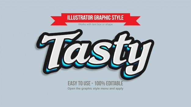 레이블 및 로고에 대한 흰색 및 네온 파란색 현대 필기체 글자 텍스트 효과