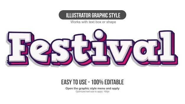 흰색과 빨간색 3d 만화 편집 가능한 텍스트 효과
