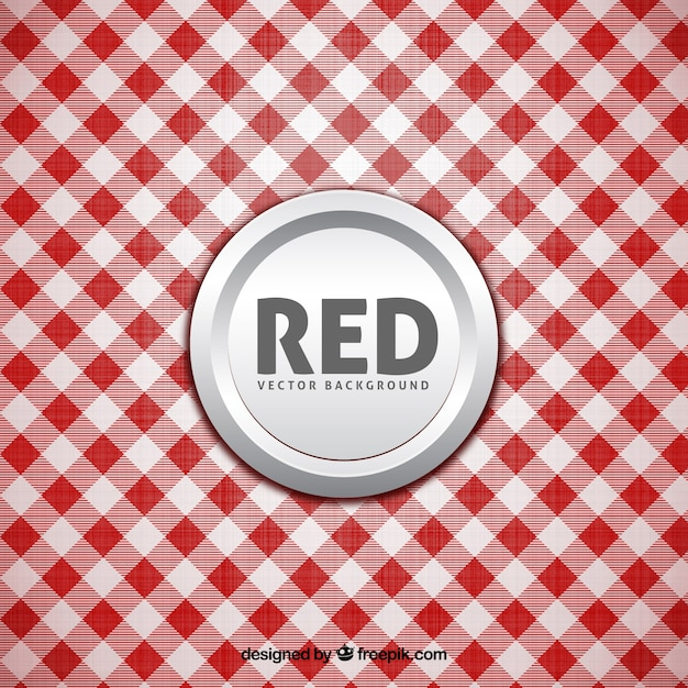 White And Red Tablecloth Background