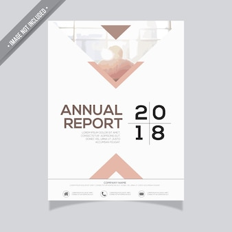 White annual report design