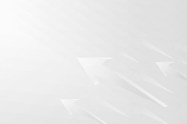 白い矢印の背景、現代の境界線、技術概念ベクトル