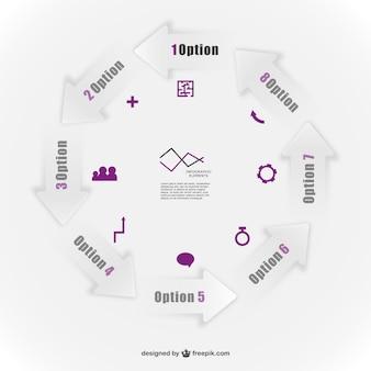 ベクトルインフォグラフィックテンプレート要素