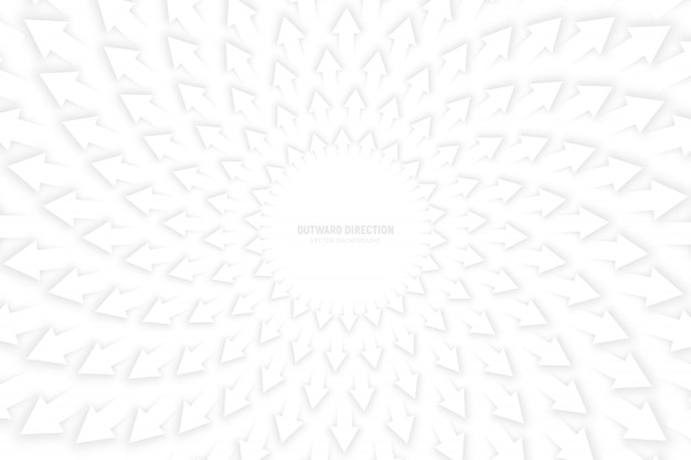 White arrows radial composition background