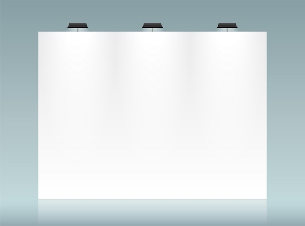 White backdrop vector template with copy space