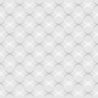 White background seamless pattern with circles