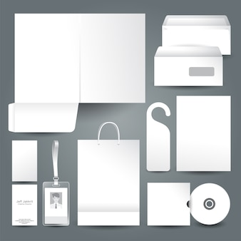 White background stationery template