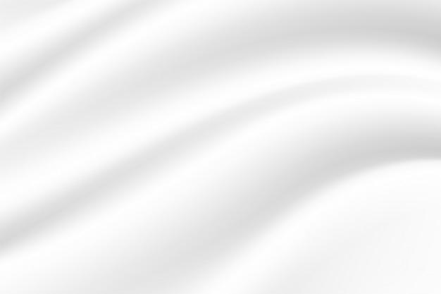 흰색 배경 흰색 직물의 파도 우유와 요구르트 크림처럼.