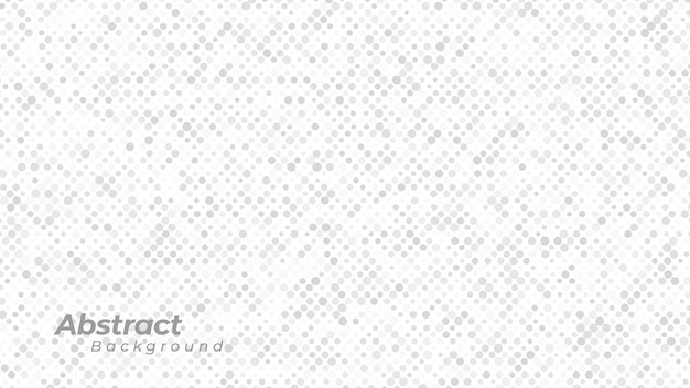 White background with abstract dots pattern.