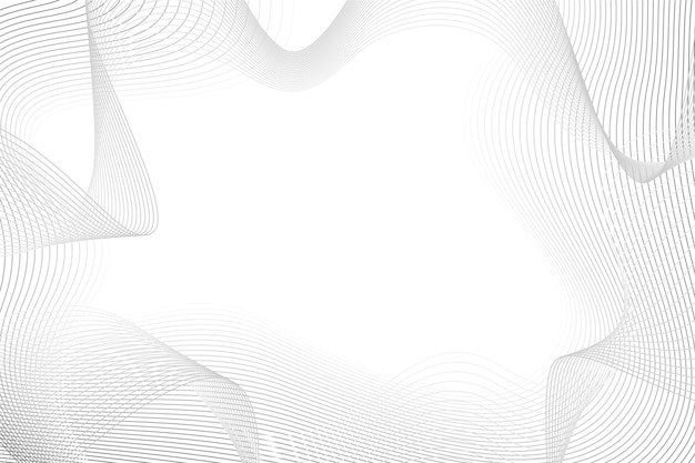 White background with abstract lines copy space