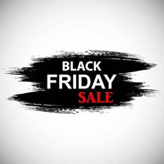 White background with black ink to celebrate black friday