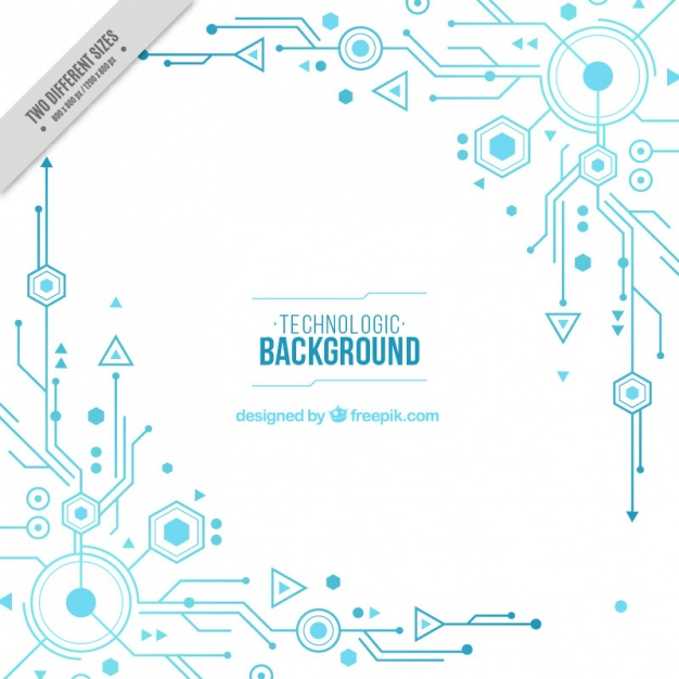 White background with blue circuits