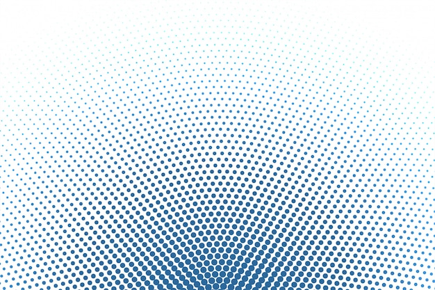 White background with blue round halftone background