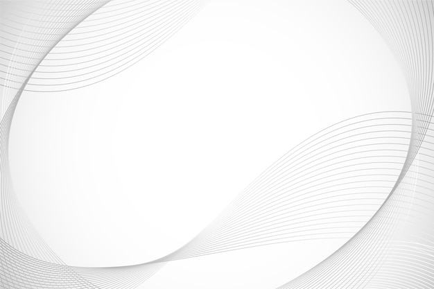 White background with circular lines copy space