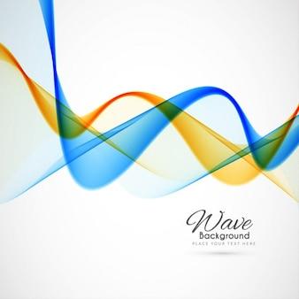 Astratto sfondo colorato onda