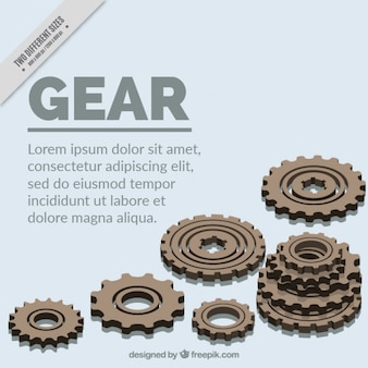 White background with gears