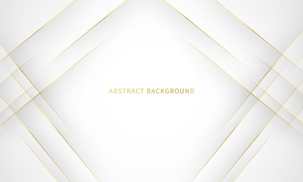 White background with gold outline decoration abstract gray background modern banner concept