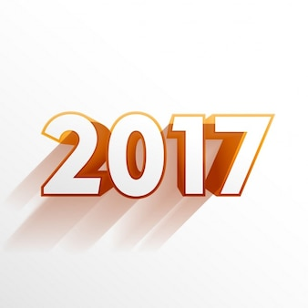 White background with golden 2017