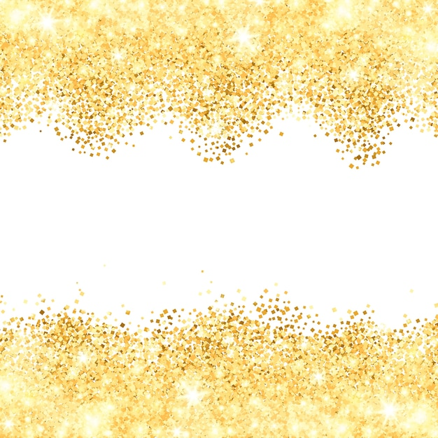 White Background With Golden Dust Borders